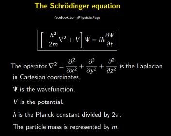 equação de schrödinger